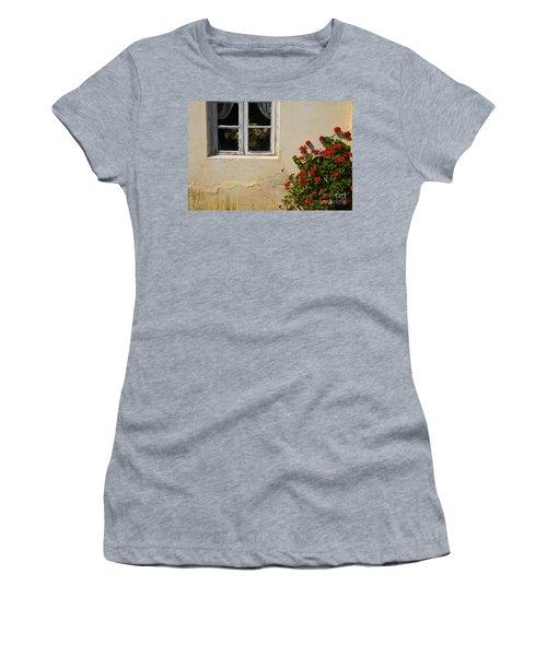 Flower Talk Women's T-Shirt (Athletic Fit)
