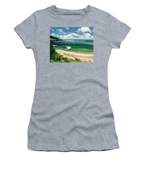 Hawaii Beach Women's T-Shirt (Athletic Fit)