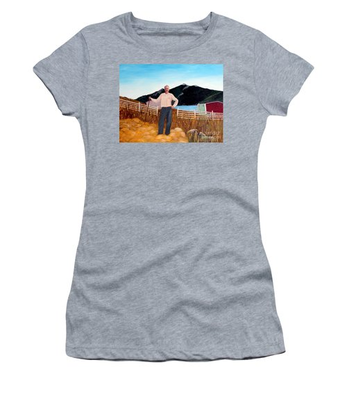 Haymaker With Pitchfork  Women's T-Shirt (Athletic Fit)