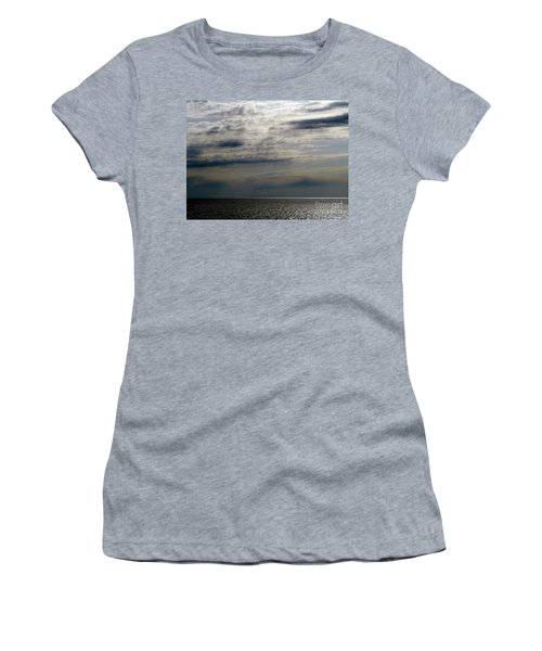 Hdr Storm Over The Water  Women's T-Shirt (Junior Cut) by Joseph Baril