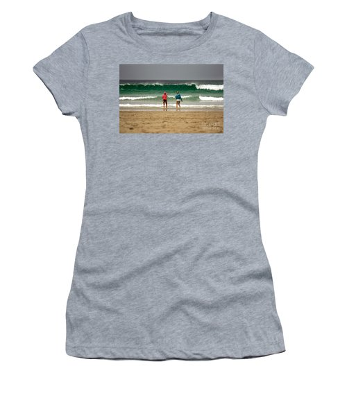 Women's T-Shirt (Junior Cut) featuring the photograph Here Comes The Big One by Terri Waters