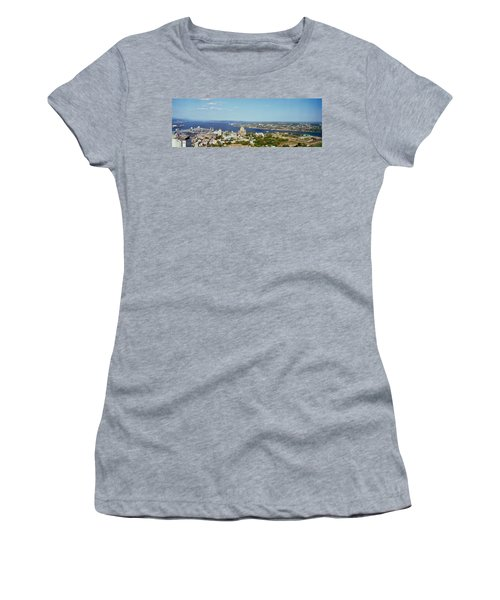 High Angle View Of A Cityscape, Chateau Women's T-Shirt