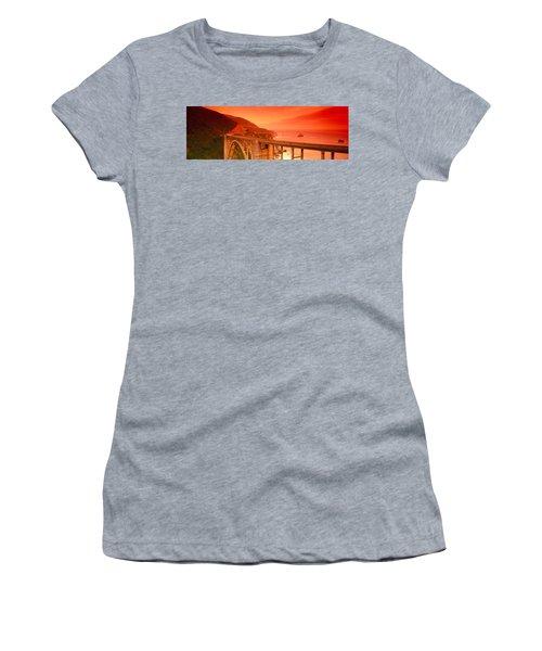 High Angle View Of An Arch Bridge Women's T-Shirt