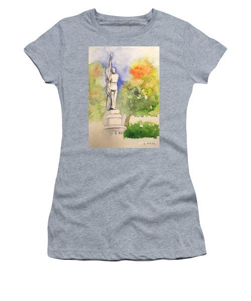 Highland Cemetery-plein Air-ypsilanti Michigan 1 Women's T-Shirt (Athletic Fit)