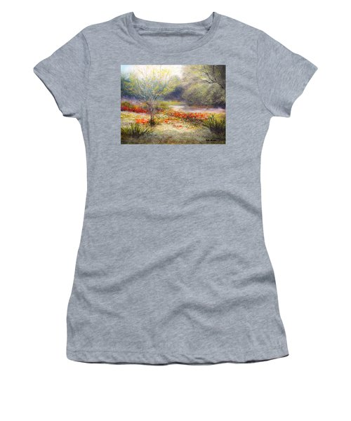 Hill Country Wildflowers Women's T-Shirt (Junior Cut) by Patti Gordon