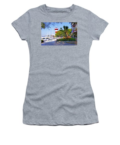 Hilton Head Lighthouse Women's T-Shirt (Athletic Fit)