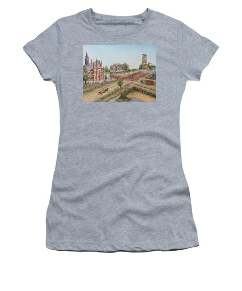 Historic Street - Lawrence Kansas Women's T-Shirt (Athletic Fit)