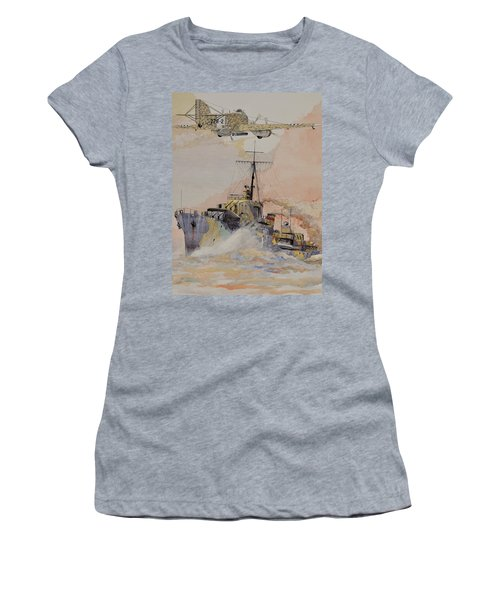 Hms Ashanti Women's T-Shirt (Junior Cut) by Ray Agius