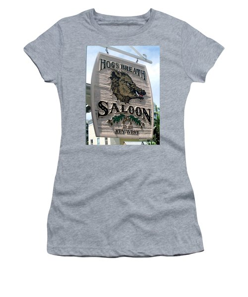 Hog's Breath Saloon Women's T-Shirt (Junior Cut) by Fiona Kennard