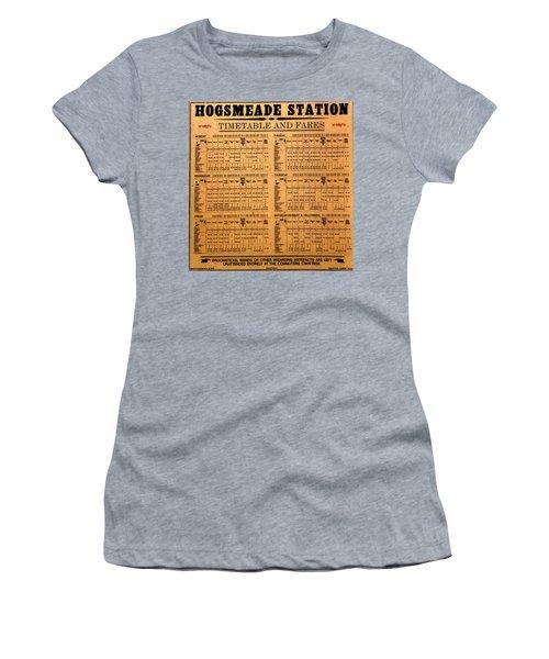 Hogsmeade Station Timetable Women's T-Shirt