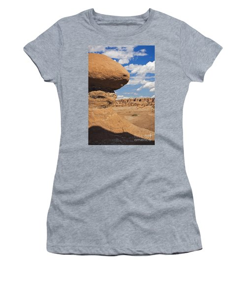 Women's T-Shirt featuring the photograph Hoodoo In Goblin Valley Utah by Bryan Mullennix