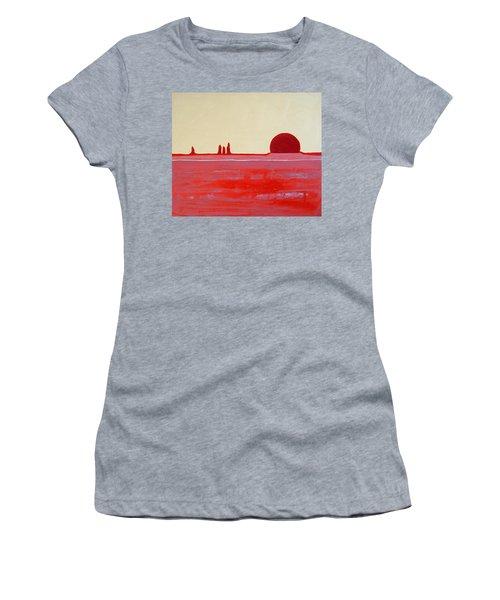 Hoodoo Sunrise Original Painting Women's T-Shirt