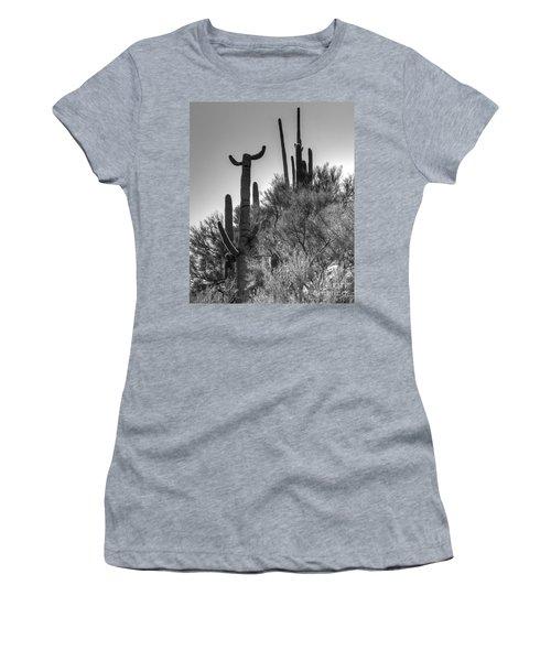 Horn Saguaro Cactus Women's T-Shirt (Junior Cut)