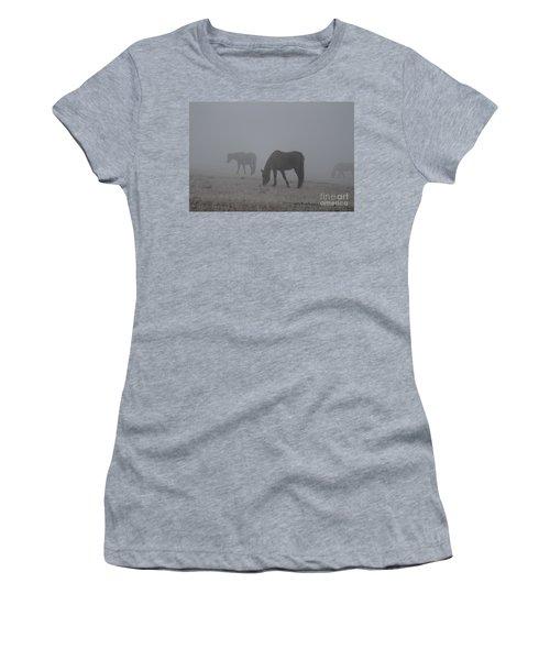 Horses In The Morning Fog Women's T-Shirt