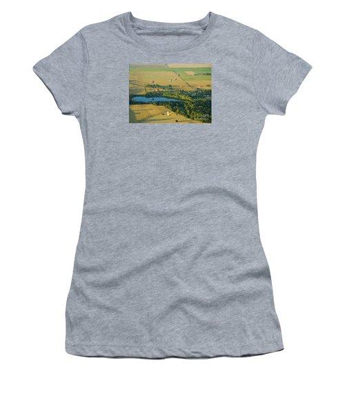 Women's T-Shirt (Junior Cut) featuring the photograph Hot Air Reflection by Nick  Boren