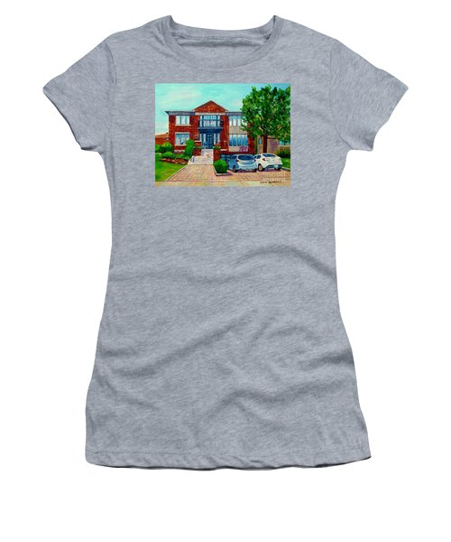 House Portrait-house  Art-commissioned  Montreal Paintings-carole Spandau Women's T-Shirt