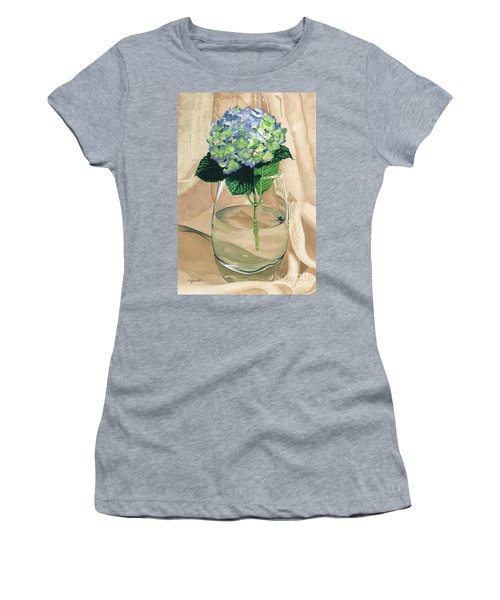 Hydrangea Blossom Women's T-Shirt (Athletic Fit)