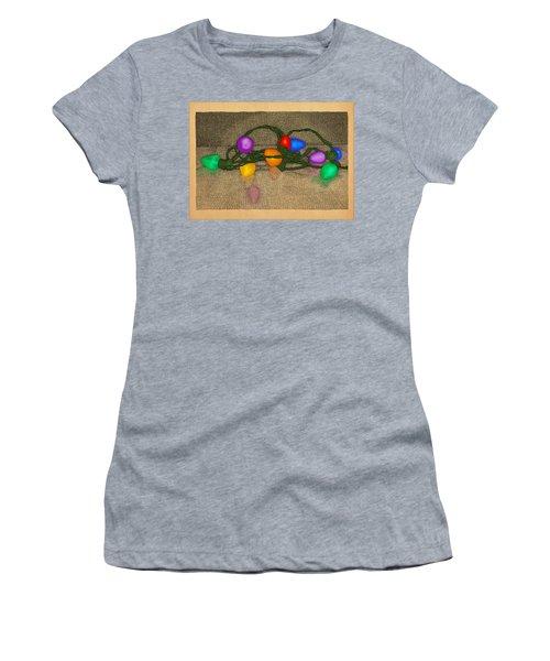 Women's T-Shirt (Junior Cut) featuring the drawing Illumination Variation #3 by Meg Shearer