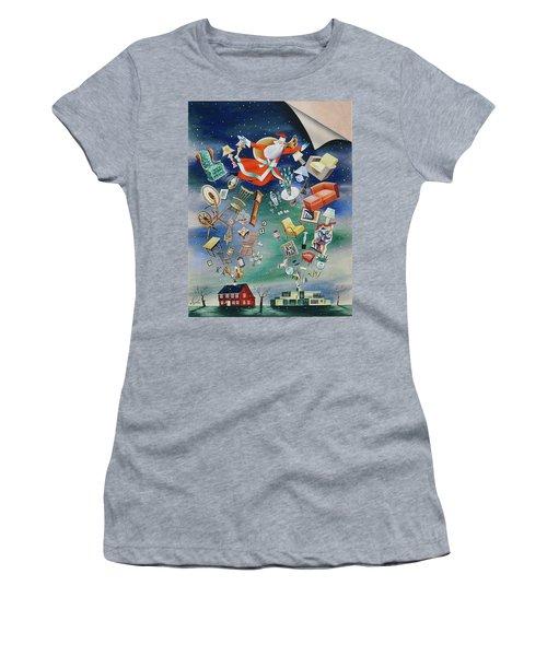 Illustration Of Santa Claus Women's T-Shirt