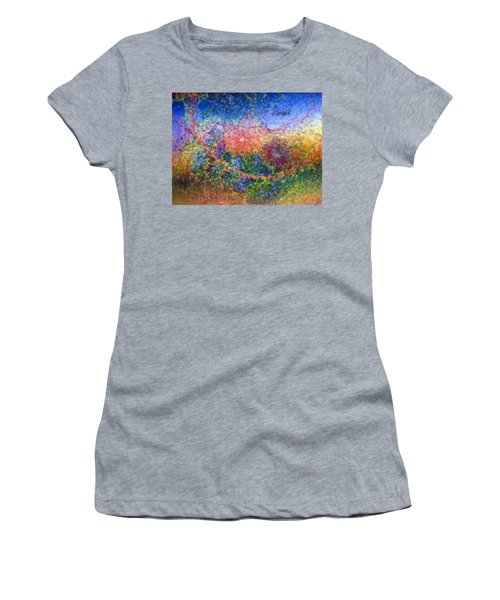 Women's T-Shirt (Junior Cut) featuring the digital art Impressionist Dreams 1 by Casey Kotas