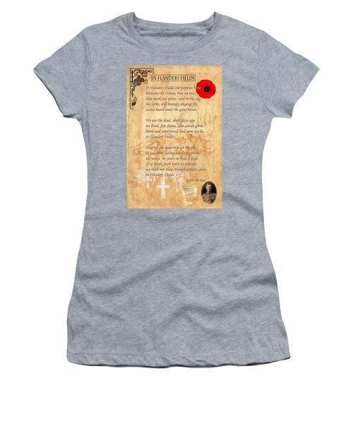 In Flanders Fields Women's T-Shirt (Athletic Fit)