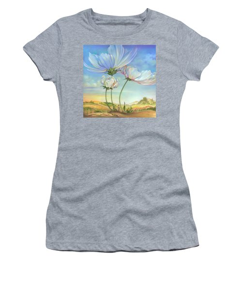 In The Half-shadow Of Wild Flowers Women's T-Shirt (Athletic Fit)