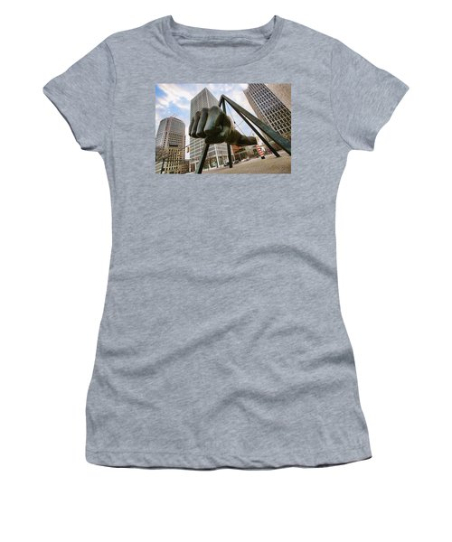 In Your Face -  Joe Louis Fist Statue - Detroit Michigan Women's T-Shirt (Athletic Fit)