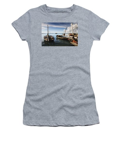 Indian Ocean Dhow At Stone Town Port Women's T-Shirt (Athletic Fit)