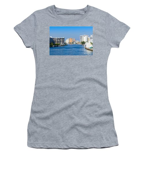 Intracoastal Waterway In Hollywood Florida Women's T-Shirt