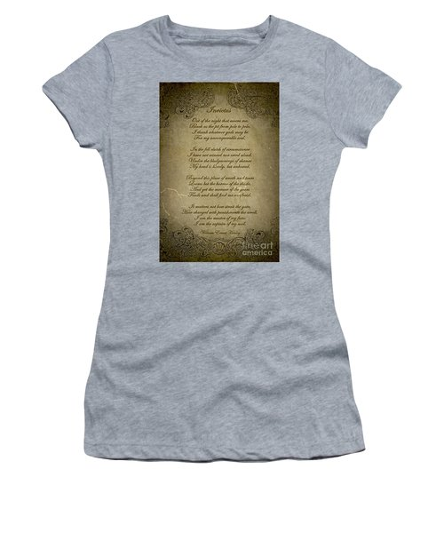 Invictus By William Ernest Henley Women's T-Shirt (Junior Cut) by Olga Hamilton