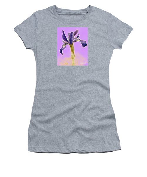 Iris On Lilac Women's T-Shirt (Athletic Fit)