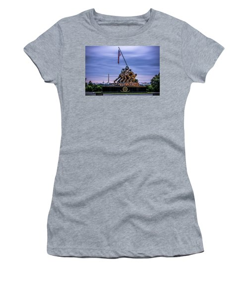 Iwo Jima Monument Women's T-Shirt (Athletic Fit)