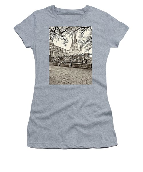 Jackson Square Winter Sepia Women's T-Shirt (Athletic Fit)