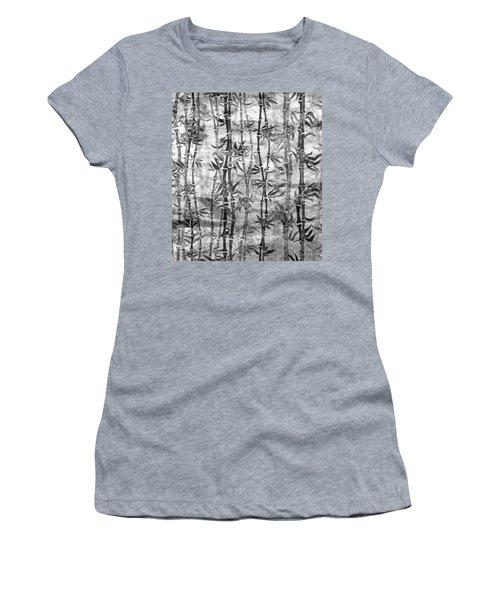 Japanese Bamboo Grunge Black And White Women's T-Shirt