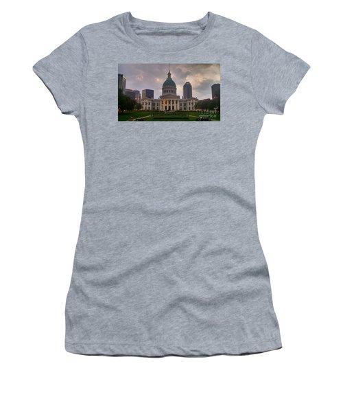 Jefferson Memorial Bldg Women's T-Shirt (Junior Cut) by Chris Tarpening