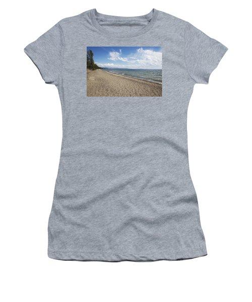 Yellowstone Lake Women's T-Shirt (Junior Cut) by Belinda Greb