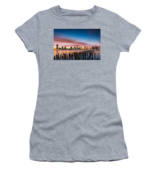 Jersey City Skyline At Sunset Women's T-Shirt