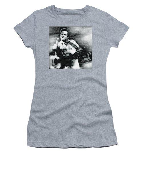 Johnny Cash Rebel Women's T-Shirt