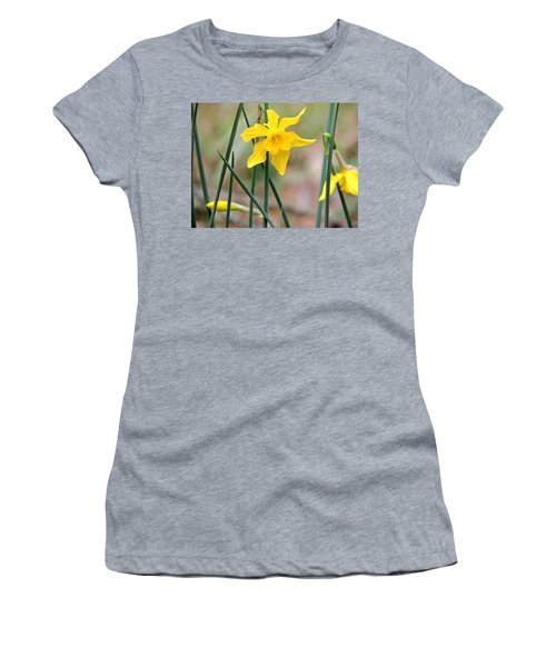 Women's T-Shirt (Junior Cut) featuring the photograph Johnny-jump-up by Kim Pate
