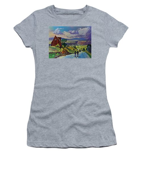 Journey Along The Road To Infinity Women's T-Shirt (Athletic Fit)