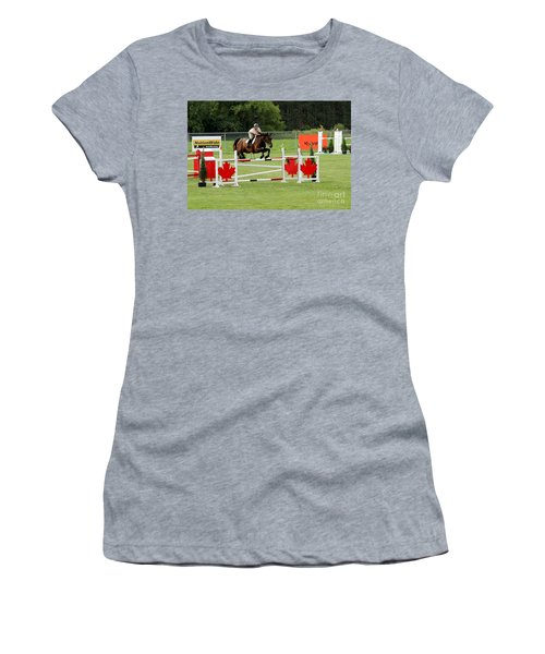 Jumping Canadian Fence Women's T-Shirt
