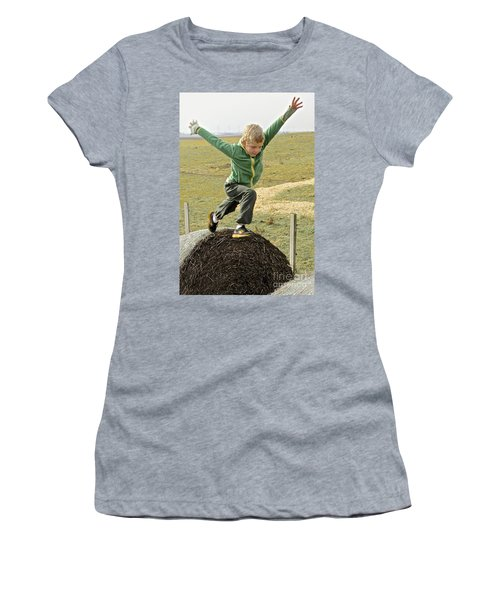 Jumping Haystacks Women's T-Shirt (Athletic Fit)