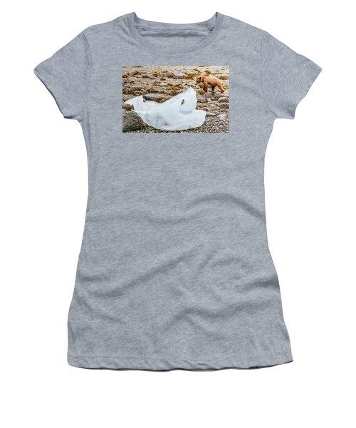 Juvenile Coastal Brown Bear Standing Women's T-Shirt