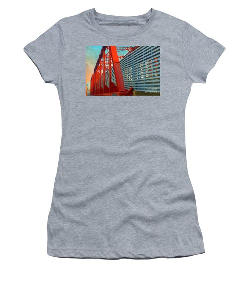 Kansas City Train Bridge - Pencoyd Railroad Bridge  Women's T-Shirt (Athletic Fit)