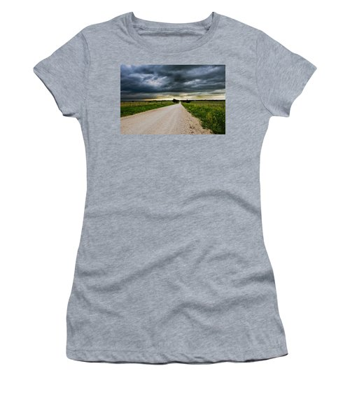 Kansas Storm In June Women's T-Shirt (Athletic Fit)