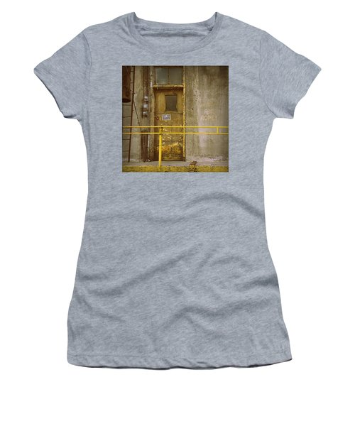Women's T-Shirt (Junior Cut) featuring the photograph Keep Door Closed by Joseph Skompski