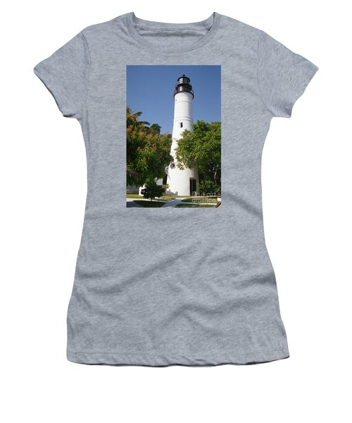 Key West Lighthouse Women's T-Shirt (Athletic Fit)