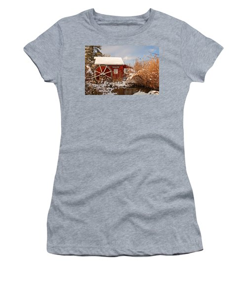 Kimberton Mill After Snow Women's T-Shirt (Athletic Fit)