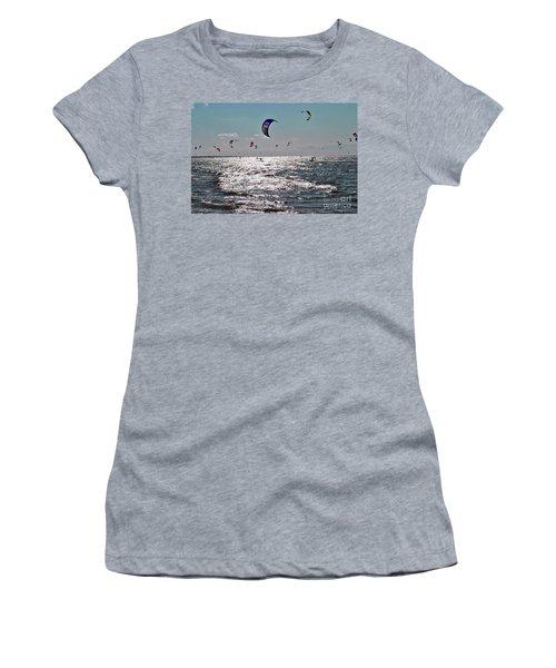 Kitesurfing Women's T-Shirt (Junior Cut) by Maja Sokolowska