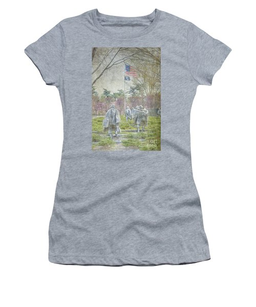 Korean War Veterans Memorial Washington Dc Beautiful Unique   Women's T-Shirt (Athletic Fit)
